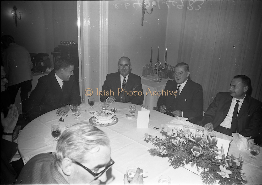 18/04/1966<br /> 04/18/1966<br /> 18 April 1966<br /> John Power Dinner Party at the Hibernian Hotel, Dublin. John Power Directors with visitors from the United States and Canada.