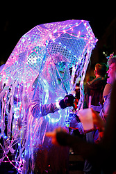 30 January 2016. New Orleans, Louisiana.<br /> The Intergalactic Krewe of Chewbacchus parades through the Marigny and Bywater.<br /> Photo©; Charlie Varley/varleypix.com