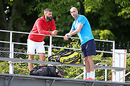 Benoit Paire of France and his new coach Boris Vallejo during practice ahead of the French Open 2021, a Grand Slam tennis tournament at Roland-Garros stadium on May 29, 2021 in Paris, France - Photo Jean Catuffe / ProSportsImages / DPPI