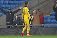Oxford United forward James Henry (17) scores a goal 2-0 and celebrates during the EFL Sky Bet League 1 match between Oxford United and Portsmouth at the Kassam Stadium, Oxford, England on 19 January 2019.