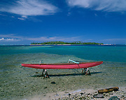 Outrigger canoe, Huahine, French Polynesia<br />