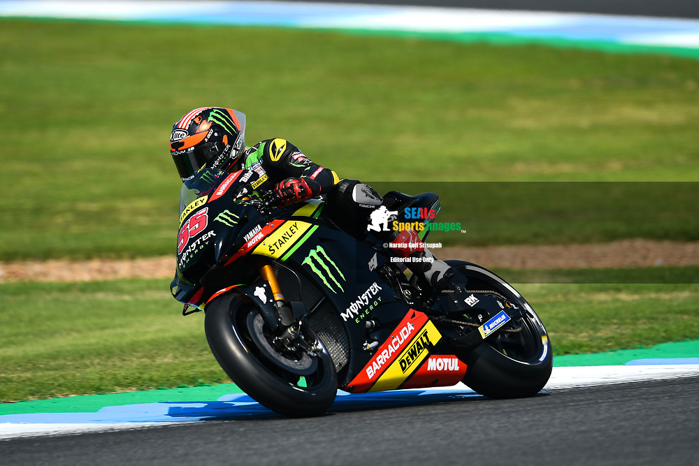 BURIRAM, THAILAND - OCTOBER 06: Hafizh Syahrin (55) of Malaysia and Monster Yamaha Tech 3 in Turn 3 during FP3 at the MotoGP PTT Thailand Grand Prix 2018, Chang International Circuit, Buriram, Thailand on October 06, 2018. <br /> .<br /> .<br /> .<br /> (Photo by: Naratip Golf Srisupab/SEALs Sports Images)<br /> .<br /> Any image use must include a mandatory credit line adjacent to the content which should read: Naratip Golf Srisupab/SEALs Sports Images