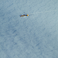 Antarctica, Queen Maud Land. Base camp for expedition to Rakekniven Spire in the Filchner Mtns.