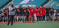 AMSTELVEEN - Spanning bij de dames van Amsterdam bij de shoot outs,  tijdens de halve finale wedstrijd dames EURO HOCKEY LEAGUE (EHL),  Amsterdam-HC Den Bosch. (1-1) Den Bosch wint shoot outs en plaats zich voor de finale.  COPYRIGHT  KOEN SUYK