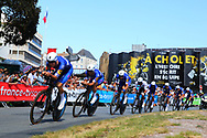 QuickStep - Floors during the Tour de France 2018, Stage 3, Team Time Trial, Cholet-Cholet (35 km) on July 9th, 2018 - Photo Kei Tsuji/ BettiniPhoto / ProSportsImages / DPPI