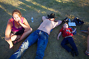 during the Writing On Stone rodeo near Milk River, Alberta.