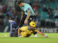 Cricket - 2017 Natwest T20 Blast - Quarter-Final: Surrey vs. Birmingham Bears<br /> <br /> Colin de Grandhomme of Birmingham dives back to his wicket at The Oval.<br /> <br /> COLORSPORT/ANDREW COWIE