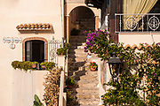 in the village of Sperlonga, Italy. Sperlonga is a coastal town in the province of Latina, Italy, about halfway between Rome and Naples.