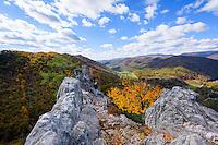 Seneca Rocks State Park, West Virginia, USA.