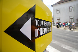 Sign after start in Sentjernej of the 4th stage of Tour de Slovenie 2009 from Sentjernej to Novo mesto, 153 km, on June 21 2009, Slovenia. (Photo by Vid Ponikvar / Sportida)