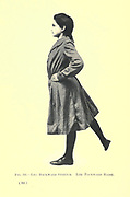 16. Leg backward stretch. Leg backward raise from the book ' Gymnastic exercises for elementary schools, supplemented by fancy steps and games ' Trask, Harriet Edna, Published in 1904 in Philadelphia by Christopher Sower Company