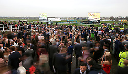 Racegoers during Ladies Day of the 2018 Randox Health Grand National Festival at Aintree Racecourse, Liverpool.