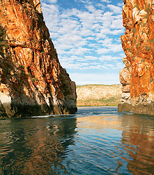 Slackwater at the Horiztonal Waterfalls, Talbot Bay on the Kimberley coast.