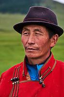 Mongolie, Arkhangai, nomad mongol // Mongolia, Arkhangai province, Mongolian nomad man