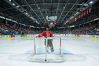 KELOWNA, CANADA - MAY 1: Adin Hill #31 of Portland Winterhawks stands in net against the Kelowna Rockets during game 5 of the Western Conference Final on May 1, 2015 at Prospera Place in Kelowna, British Columbia, Canada.  (Photo by Marissa Baecker/Getty Images)  *** Local Caption *** Adin Hill;