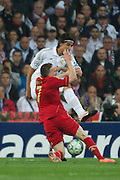 Champions League semi final second leg soccer match between Real Madrid and FC Bayern Munich at the Santiago Bernabeu stadium in Spain - <br /> MADRID 25/04/2012<br /> ESTADIO SANTIAGO BERNABEU.<br /> half final, Halbfinale, Semifinale,  CHAMPIONS LEAGUE<br /> REAL MADRID 2 - BAYERN 1<br /> picture: RIBERY. KHEDIRA.- fee liable image, copyright © ATP QUEEN INTERNACIONAL<br /> <br /> Real MADRID vs Fc BAYERN Match 2:1 und 3:1 im Elfmeterschieflen - and 3:1 in penalty shooting - Queen photographer Fernando ALVAREZ
