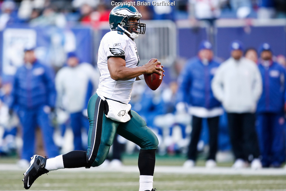 11 Jan 2009: Philadelphia Eagles quarterback Donovan McNabb #5 during the game against the New York Giants on January 11th, 2009.  The  Eagles won 23-11 at Giants Stadium in East Rutherford, New Jersey.