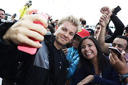 Nico Rosberg (GER) Mercedes AMG F1 with fans.<br /> 27.10.2016. Formula 1 World Championship, Rd 19, Mexican Grand Prix, Mexico City, Mexico, Preparation Day.<br />  <br /> / 271016 / action press