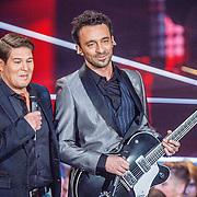 NLD/Hilversum/20160109 - 4de live uitzending The Voice of Holland 2015, Martijn Krabbe en Dave Vermeulen