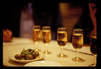 Glasses of sherry, (manzanilla) and olives at a ber in Seville, Spain, - photograph by Owen Franken