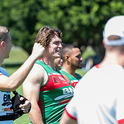 BRISBANE, AUSTRALIA - MARCH 18: Wynnum Manly players look on during the NRL Development Junior Clinic and QRL training session at Ron Stark Oval on March 18, 2017 in Brisbane, Australia. (Photo by Patrick Kearney/Wynnum Manly Seagulls)