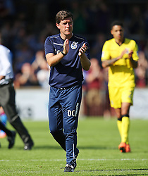 Bristol Rovers manager Darrell Clarke applauds the travelling fans - Mandatory by-line: Matt McNulty/JMP - 06/08/2016 - FOOTBALL - Glanford Park - Scunthorpe, England - Scunthorpe United v Bristol Rovers - Sky Bet League One