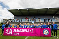 Team of ZNK Pomurje celebrating winning the national league after football match between ZNK Pomurje and ZNK Olimpija in 21st Round of Slovenska zenska nogometna liga 2020/21, on 22 of May, 2021 in TSC Trate, Gornja Radgona, Slovenia. Photo by Blaž Weindorfer / Sportida