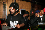 """Questlove and MOS DEF at The Roots Album realease party for """"Roots Down"""" at Sutra on April 29, 2008"""".. The Legendary Roots Crew, the influential, Grammy Award-winning American band from Philadelphia, Pennsylvania, famed for a heavily jazzy sound and live instrumentation, have made 10 Albums to date."""
