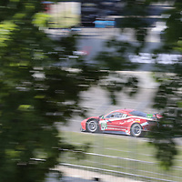Detroit, MI - Jun 03, 2016:  The Scuderia Corsa Ferrari 488 GT3 races through the turns at the Detroit Grand Prix at Belle Isle Park in Detroit, MI.