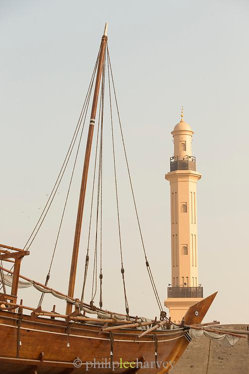 Traditional wooden Arabic ship at Dubai Museum, United Arab Emirates, United Arab Emirates
