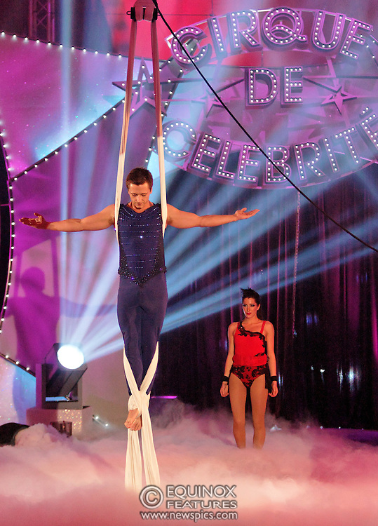 London, United Kingdom - 9 December 2007.The final of Sky One TV show Cirque de Celebrite Series 2..The show's winner was ex Neigbours actor Kyal Marsh. Featured on the show were american sprinter Dwain Chambers, ex Eastenders actress Hannah Waterman, Polish princess Princess Tamara, Australian glamour model Emily Scott, former member of boyband Five Ritchie Neville, member of Boyzone Shane Lynch, Professional football player Dean Holdsworth, Big Brother contestant Liam McGough, Socialite Lady Isabella Hervey, Bad Girls cast member Antonia Okonma, Casualty actor Luke Bailey, actress Stacey Cadman and former Neighbours actor Kyal Marsh..The location for the show was Woolwich Common, Academy Road, Woolwich, UK..(photo by: EDWARD HIRST/EQUINOXFEATURES.COM)..Picture Data:.Photographer: EDWARD HIRST.Copyright: ©2007 Licensed to Equinox News Pictures +448700 780000.Contact: Equinox Features.Date Taken: 20071209.Time Taken: 194921+0000.www.newspics.com