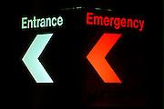 Emergency room sign at Abbott Northwestern Hospital.  Minneapolis Minnesota USA