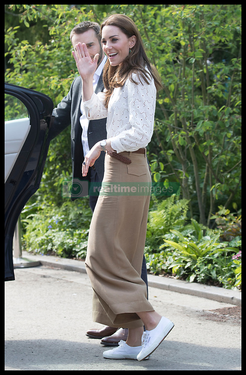 May 20, 2019 - London, London, United Kingdom - Image licensed to i-Images Picture Agency. 20/05/2019. London, United Kingdom. The Duchess of Cambridge leaving her  ÔBack to NatureÃ• Garden that she helped design at the Chelsea Flower Show in London. (Credit Image: © Stephen Lock/i-Images via ZUMA Press)