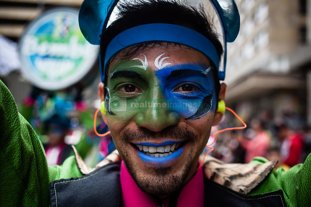 August 6, 2017 - Bogota, Colombia - People take part in a parade to mark the 479th founding anniversary of Bogotá, Colombia on August 06, 2017. The Capital of Colombia, Bogota turns 479 this weekend! Parades and performances in the entire city all this week long. (Credit Image: © Juan Torres/NurPhoto via ZUMA Press)