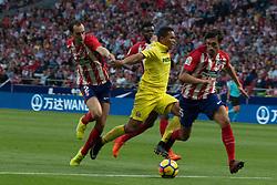 October 28, 2017 - Madrid, Spain - Godin, Bacca and Savic..Draw at 1 in Wanda Metropolitano stadium. (Credit Image: © Jorge Gonzalez/Pacific Press via ZUMA Wire)