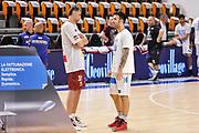 DESCRIZIONE : Campionato 2014/15 Dinamo Banco di Sardegna Sassari - Umana Reyer Venezia<br /> GIOCATORE : Tomas Ress Brian Sacchetti<br /> CATEGORIA : Fair Play Before Pregame<br /> SQUADRA : Dinamo Banco di Sardegna Sassari<br /> EVENTO : LegaBasket Serie A Beko 2014/2015<br /> GARA : Dinamo Banco di Sardegna Sassari - Umana Reyer Venezia<br /> DATA : 03/05/2015<br /> SPORT : Pallacanestro <br /> AUTORE : Agenzia Ciamillo-Castoria/L.Canu