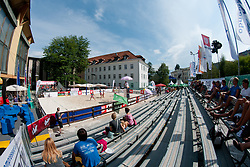 View on the court at Zavarovalnica Triglav Beach Volley Open as tournament for Slovenian national championship on July 29, 2011, in Kranj, Slovenia. (Photo by Matic Klansek Velej / Sportida)