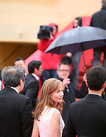 Isabelle Huppert arriving at the DA-REUN NA-RA-E-SUH (IN ANOTHER COUNTRY)  gala screening at the 65th Cannes Film Festival France. Monday 21st May 2012 in Cannes Film Festival, France.