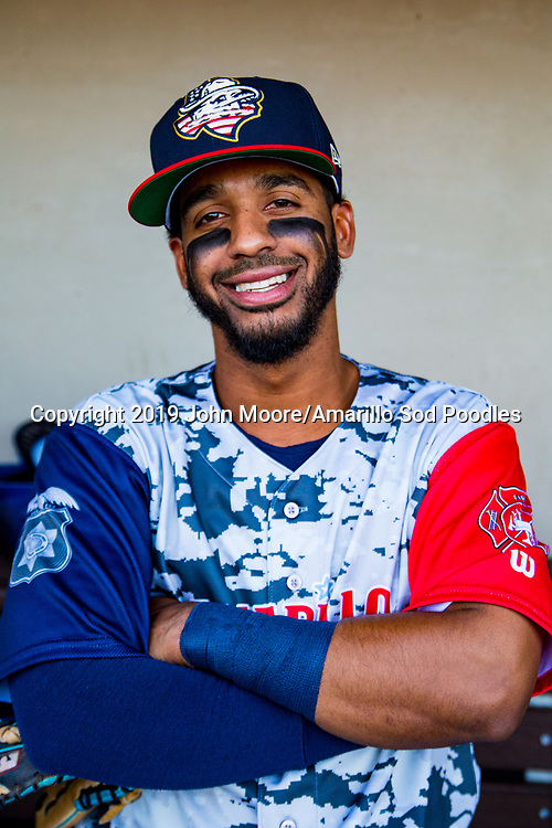 Amarillo Sod Poodles infielder Ivan Castillo (2) before the game against the Corpus Christi Hooks on Thursday, July 4, 2019, at HODGETOWN in Amarillo, Texas. [Photo by John Moore/Amarillo Sod Poodles]