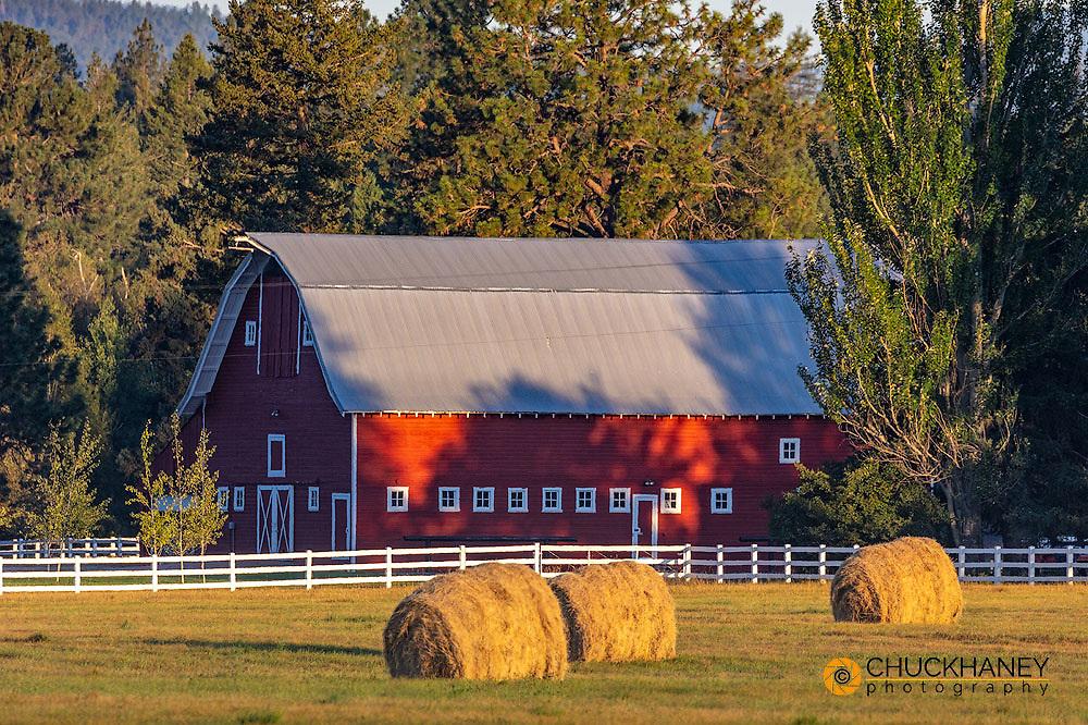 Old Hodgson Dairy Barn in the Flathead Valley, Montana, USA