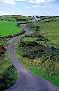 Winding country road passing rural farmhouse, Dursey Head, Beara peninsula, County Cork, Ireland