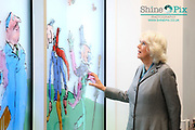 Birmingham Children's Hospital is proud to have worked with Sir Quentin Blake, the world-famous children's illustrator, and Felicity Dahl, wife of the late author Roald Dahl, on the creation of a stunning, stained glass window installation – the first-time Sir Quentin's work has ever been produced in stained glass.<br /> The designs, which have been generously donated by Sir Quentin, will celebrate some of the iconic characters from Roald Dahl's much-loved stories. <br /> As Patron of Roald Dahl's Marvellous Children's Charity, HRH The Duchess of Cornwall   visited Birmingham Children's Hospital on Wednesday 22 January 2020 to unveil our unique Roald Dahl Window Collection. HRH The Duchess of Cornwall was greeted by Sarah-Jane Marsh, Chief Executive of Birmingham Women's and Children's NHS Foundation Trust and a Presentation of posy of flowers to HRH was made by patient Matilda Hatton. Picture by Shaun Fellows / Shine Pix Ltd