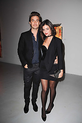 Julia Restoin Roitfeld and Robert Konjic at a private view of Nicolas Pol's paintings entitled 'Mother of Pouacrus' held at The Dairy, Wakefield Street, London WC1 on 14th October 2010.