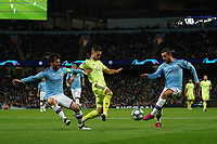 Manchester City's Bernardo Silva crosses the ball<br /> <br /> Football - 2019 / 2020 UEFA Champions League - Champs Lge Grp C: Man City-D Zagreb<br /> <br /> , at Etihad Stadium<br /> <br /> Colorsport / Terry Donnelly