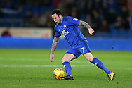 Lee Tomlin of Cardiff City in action. EFL Skybet championship match, Cardiff city v Ipswich Town at the Cardiff city stadium in Cardiff, South Wales on Tuesday 31st October 2017.<br /> pic by Andrew Orchard, Andrew Orchard sports photography.