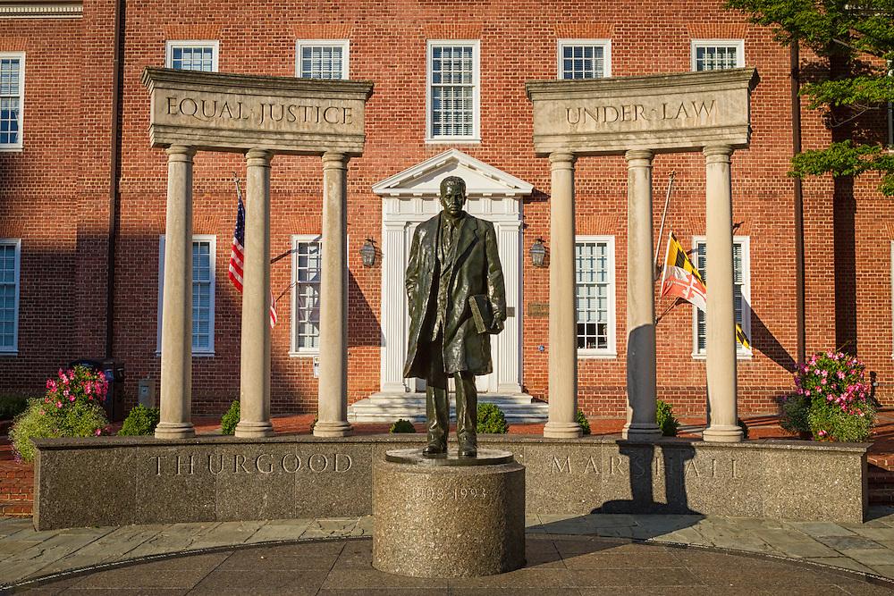 USA, Maryland, Annapolis. Thurgood Marshall Memorial Statue.