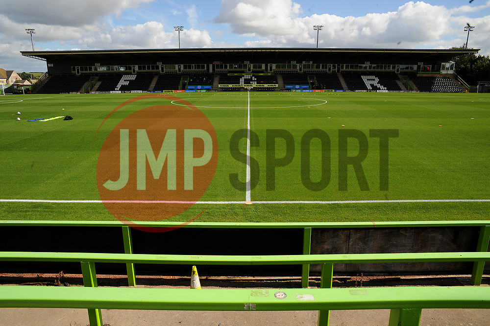 General views inside the New Lawn stadium- Mandatory by-line: Nizaam Jones/JMP - 05/09/2020 - FOOTBALL - New Lawn Stadium - Nailsworth, England - Forest Green Rovers v Leyton Orient - Carabao Cup