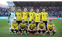 Scotland team group during the UEFA Euro 2020 Qualifying, Group I match at the San Marino Stadium, Serravalle.