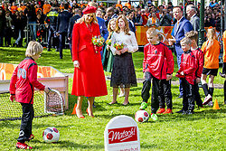 Queen Maxima with Princess Alexia attending King's Day Celebrations in Groningen, Netherlands, on April 27, 2018. Photo by Robin Utrecht/ABACAPRESS.COM