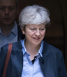 © Licensed to London News Pictures. 03/09/2017. Reading, UK.  Prime Minister Theresa May attends church. Mrs May is facing pressure from back bench Conservative MPs over the EU repeal bill which is to be debated later this week as Parliament returns from the summer break. Photo credit: Peter Macdiarmid/LNP